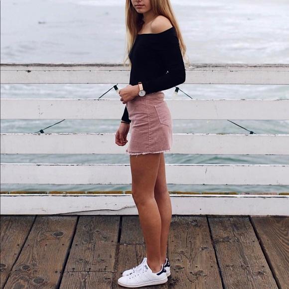92ca32ceb17c Brandy Melville Skirts | Pink Corduroy Skirt | Poshmark